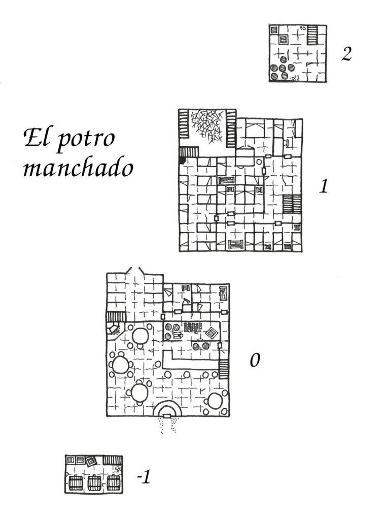 Mapa taberna El potro manchado