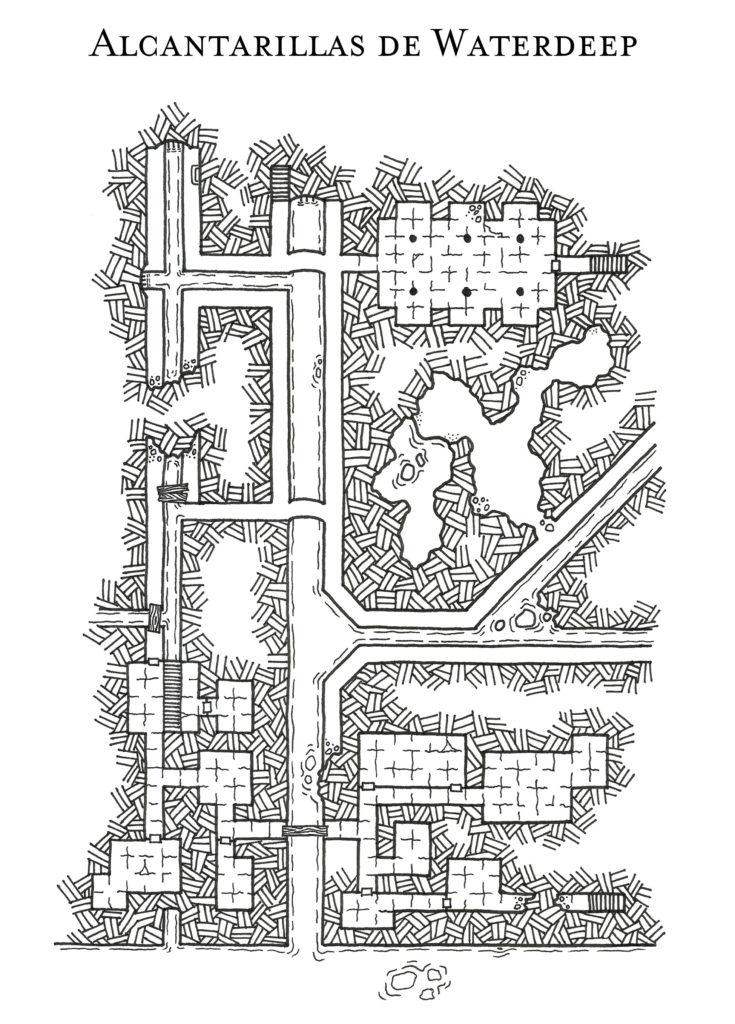 Mapa alcantarillas de Waterdeep