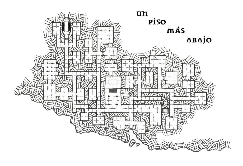 Un piso más abajo mapa