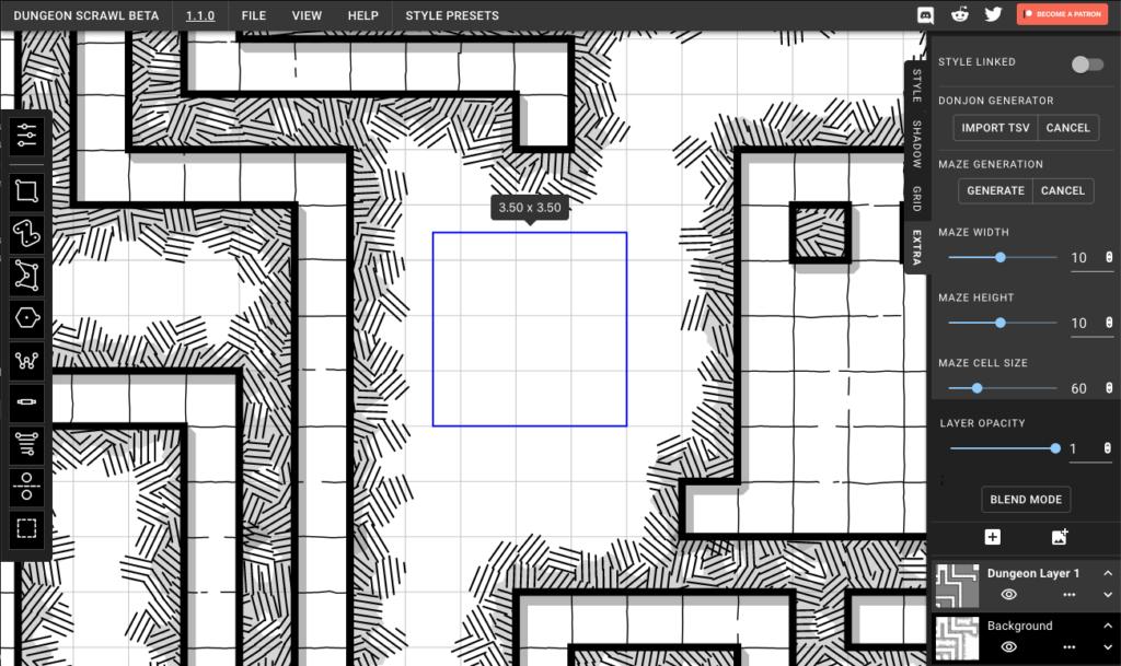 Interfaz Dungeon Scrawl